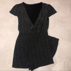Zara Knit Metallic Romper